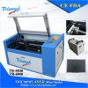 Mini máquina de gravura portátil da estaca do laser do CO2 50With60W para o acrílico/couro/madeira/vidro/cristal/carimbo de borracha/ofícios