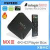 Jeu 4k arrière, Xbmc préinstallé, Miracast, Dlna, Airplay visuel androïde de la boîte Mxiii S802 M82 (MX3) de l'androïde 4.4 TV Box1080p TV