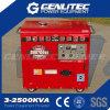 Genlitec (중국 공장) 힘 디젤 엔진 발전기 침묵하는 5개 Kw 발전기