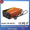 C.C. de 600W 24V 110/220V a C.A. Pure Sine Wave Power Inverter com Charger