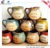 Pot-Bellied Kop van de Koffie van Latte van de Vrije tijd van de Kleur Ceramische Glans Berijpte