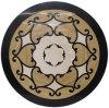 Azulejo de suelo Waterjet de mármol del modelo del medallón