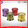 Supporti di candela di vetro del Mercury di lusso all'ingrosso dell'oro