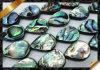 Раковина Abalone отбортовывает плоский шарик Teardrop, ювелирные изделия Abalone (APS021)
