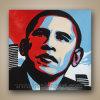 Het Olieverfschilderij van het Pop-art van Modern van Obama op Canvas (klsjpa-0013)