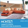 家具、ソファー、オレンジ部門別の革ソファー