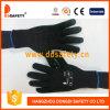 Points noirs de PVC de noir de Knit de chaîne de caractères de coton ou de polyester de Ddsafety 2017 un côté
