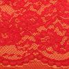 Fantastische Textilmaterialien weiße elastische Trustwin Polyester-Verzerrung gestricktes Spitze-Gewebe des Gewebe-3D