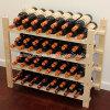 Estante de madera amontonable del almacenaje del vino de 60 botellas