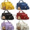 4PCS一定袋の女性のショッピング・バッグの札入れの財布の方法ハンドバッグ