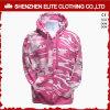Preço de grosso cor-de-rosa de Camo Hoodies das mulheres feitas sob encomenda do logotipo (ELTHI-67)