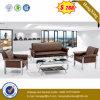 Migliore sofà moderno di vendita del cuoio genuino dei piedini del metallo dell'Italia (HX-CS075)