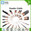 Cable coaxial del alimentador del RF del cable coaxial del blindaje para el sistema del CCTV