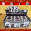 Cartão de jogo feito sob encomenda da impressão do póquer do preço do competidor