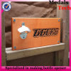 Garrafa de madeira de montagem em parede quadrada de densidade de forma personalizada
