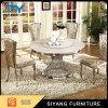 6脚の椅子が付いている中国の家具の人工的な大理石の円卓会議