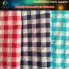 Полиэфир и шотландка Nylon смешанной ткани покрашенной пряжей, зеленая/белая
