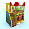 Balanço plástico do centro da brincadeira e campo de jogos interno da corrediça