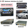 (13-16) VWのゴルフ7のためのアップグレードHD車のMirrorlinkのマルチメディアのビデオインターフェイス人間の特徴をもつGPS操縦士