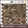 Dunkles Emporador Tile Mosaic für Floor