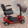 trotinette elétrico de quatro rodas com bom escalando a capacidade