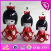 2015 heiße fördernde Kind-hölzerne Form-Puppe, kleine nette hölzerne Marionetten-Puppe, kundenspezifische reizende hölzerne Kimono-Marionetten-Puppe W06D069A