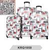 Maleta del equipaje de la carretilla del recorrido de la impresión del autobús de Londres de la PC