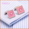 Punhos encantadores do casamento de Paiting da cor-de-rosa do ródio de VAGULA