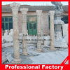 Pilar natural del granito y de mármol y columnas romanos
