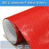 Glue fuerte 4D Red Carbon Fiber Car Cover Vinyl Film