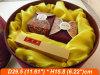 Rectángulo de madera redondo/caja de embalaje del sombrero del regalo