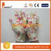 13 Anzeigeinstrument-Blumen-Entwurfs-nahtlose gestrickte Arbeits-Handschuhe Dkp420