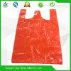 Sac de porteur en plastique de gilet de sac de T-shirt de 100% HDPE/LDPE