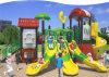 Campo da giuoco di plastica esterno favorito dei bambini di formato medio di Kaiqi con multi Acctivites