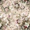 Flor branca impressa Digitas de Rosa para as telas 100% de Minky do poliéster
