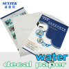 Papel de la etiqueta de la diapositiva de agua para la taza plástica de cristal de cerámica de la taza