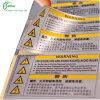 Autoadesivo d'avvertimento stampato abitudine (KG-PT004)