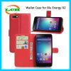 Аргументы за телефона PU Flip бумажника энергия X2 кожаный голубая