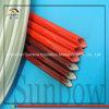 de Rode Silicone Met een laag bedekte Glasvezel Op hoge temperatuur Sleeving van 6mm