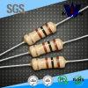 resistores fijos de la película del carbón de 1/2W 1/4W