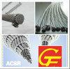Conducteur en aluminium aérien ACSR renforcé par acier de l'utilisation BT