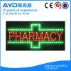 Retângulo de Hidly o sinal do diodo emissor de luz da farmácia de Ásia