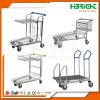 Chariot de chariot à transport de cargaison de plate-forme d'entrepôt de 4 roues