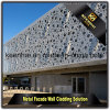 Revêtement en aluminium extérieur décoratif de mur de panneau de façade de Peforated