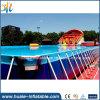 遊園地水ゲームPVC携帯用金属フレームのプール