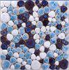 Cobblestone di ceramica blu e bianco di colore della miscela del mosaico del ciottolo
