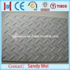 201 304 hoja de acero inoxidable antirresbaladiza de 420 suelos