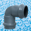 Encaixes da pressão do PVC com a junção do anel de borracha