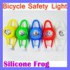 Indicatore luminoso di gomma della rana della bici della bicicletta LED del silicone di colore posteriore fronte