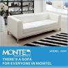 現代白革のソファー、居間の家具のソファーセット